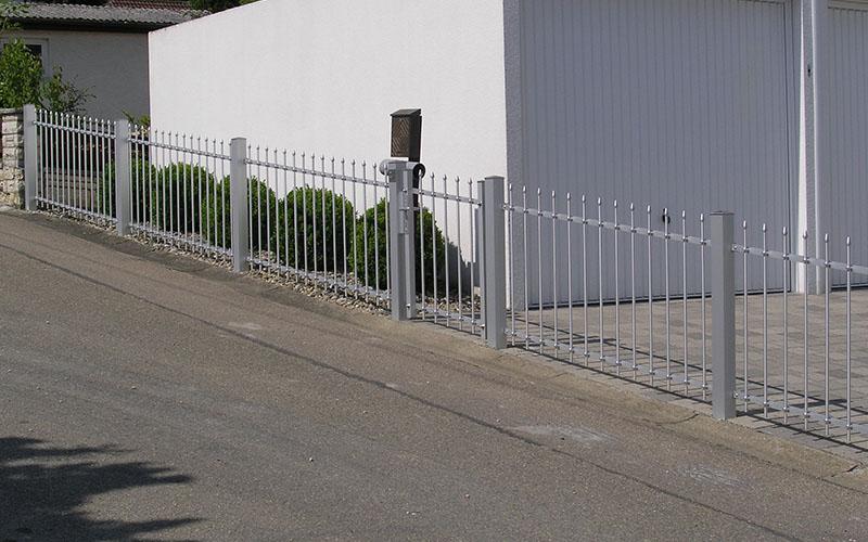 stabile Metallpfosten 8 cm für Zaun