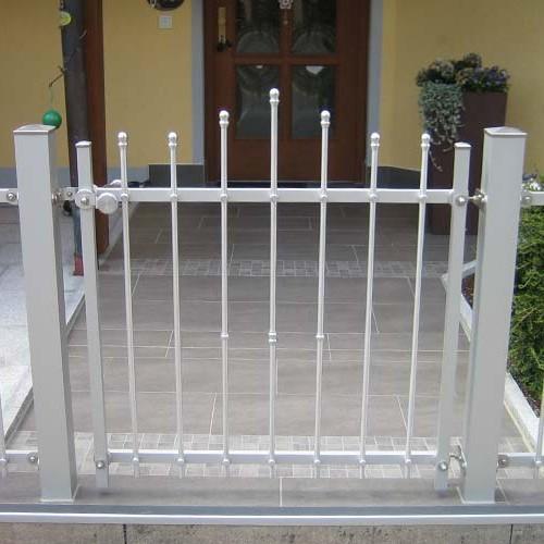 Eingangstür Metall mit Pfosten