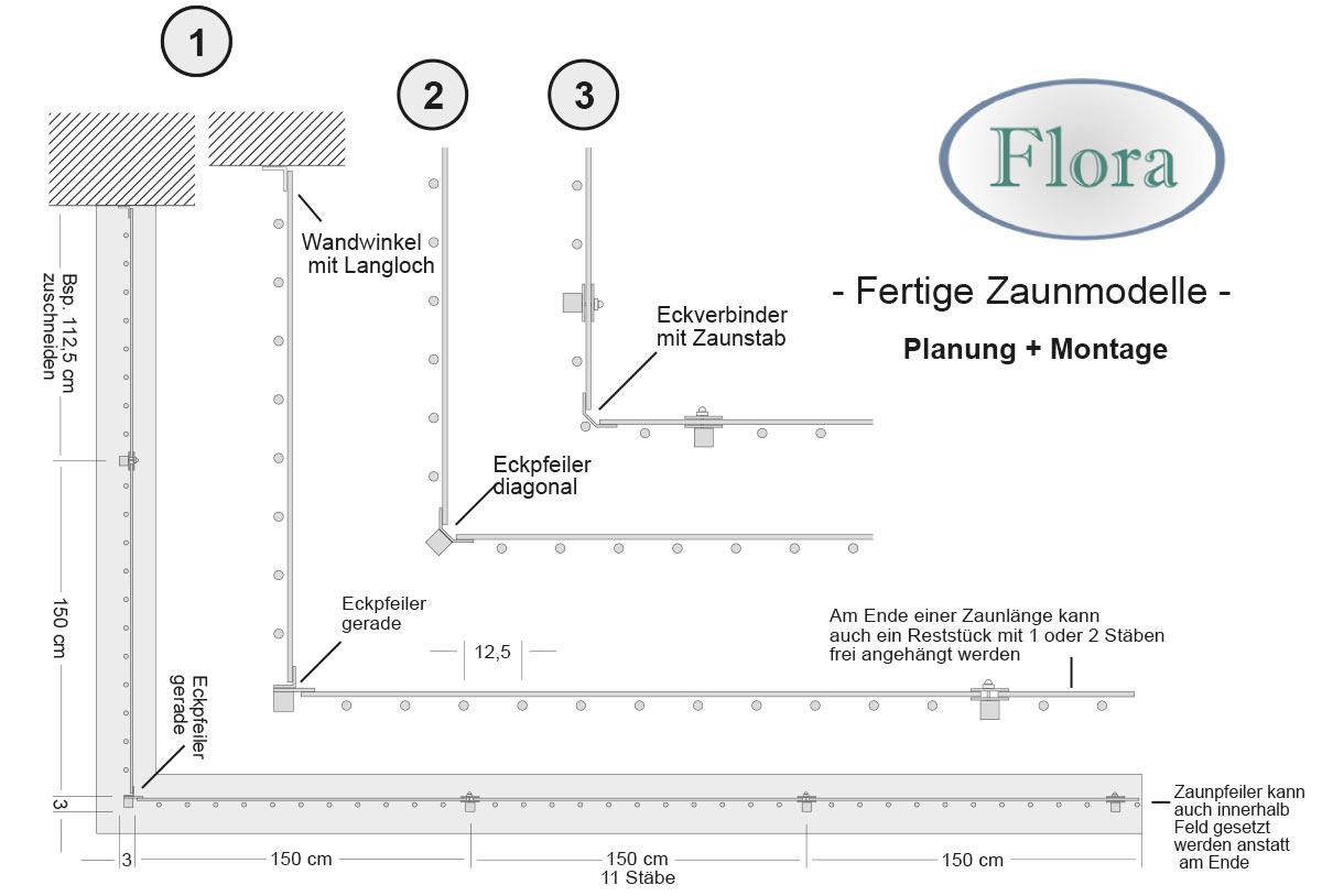 planung fertige zaunmodelle seiler zaun design. Black Bedroom Furniture Sets. Home Design Ideas
