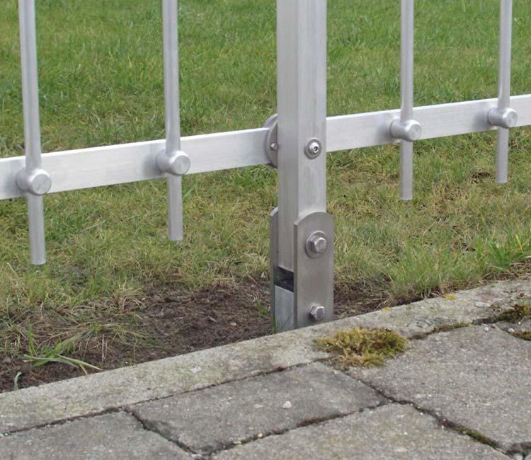 Zaun einbetonieren